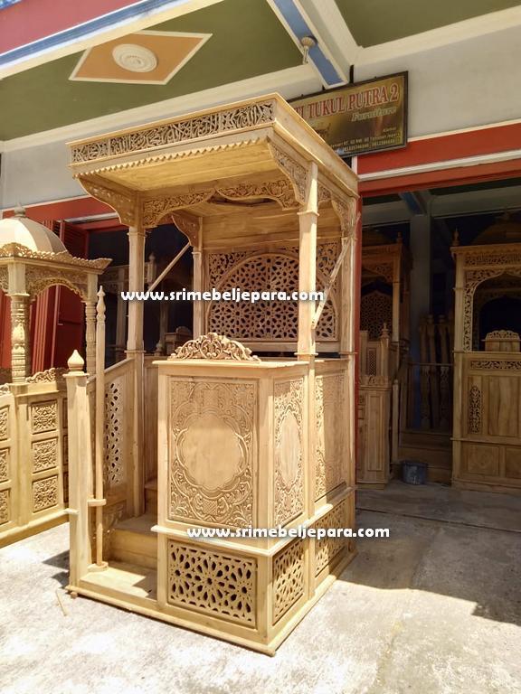 jual mimbar masjid 2020 terbaru ukiran khas Jepara