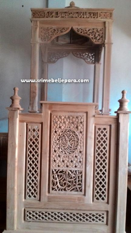 jual mimbar masjid Ukiran Jati Jepara