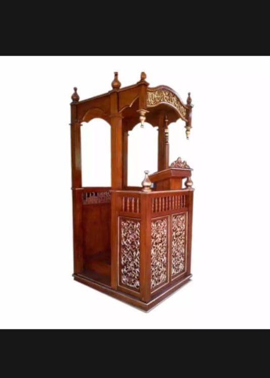jual mimbar masjid asli ukiran jepara