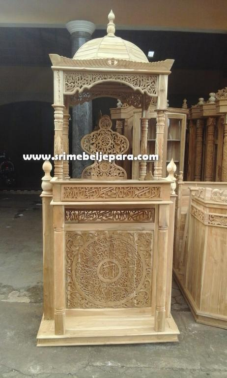 jual mimbar masjid asli jepara