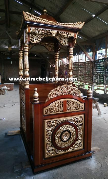 jual mimbar masjid ukiran asli jepara