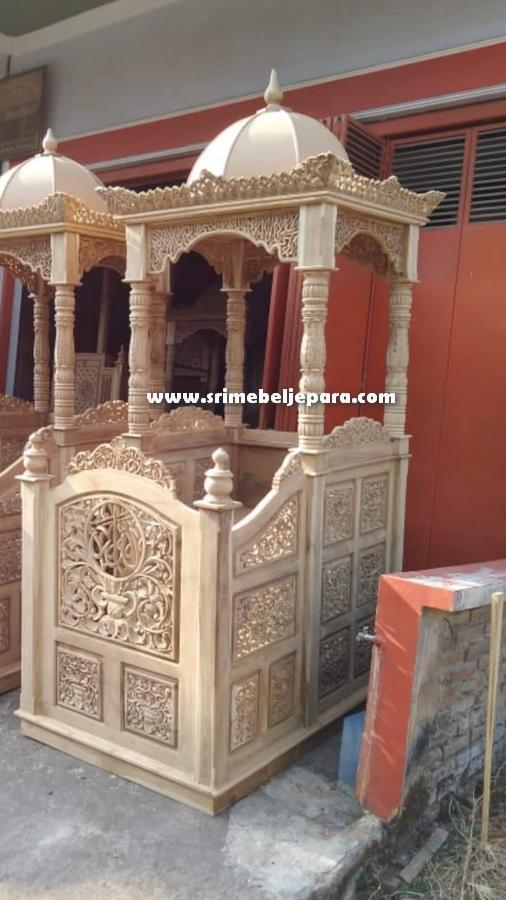 mimbar masjid jepara kayu jati