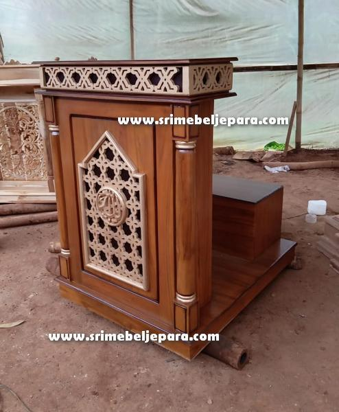 mimbar masjid minimalis Jepara