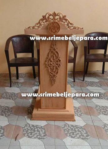 podium minimalis asli ukiran Jepara