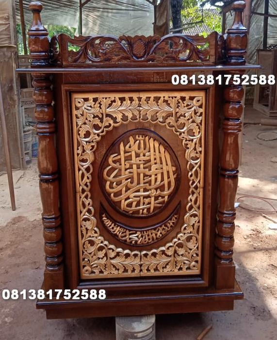 podium masjid ukiran jepara